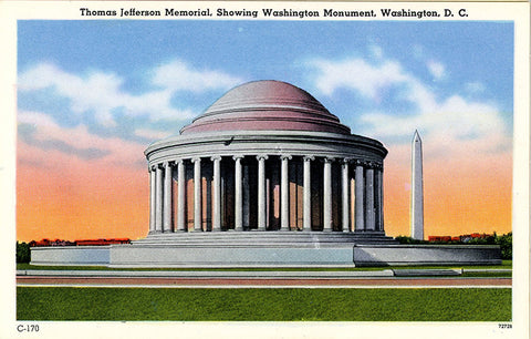 Washington D.C. Jefferson Memorial  Vintage Postcard (unused) - Vintage Postcard Boutique