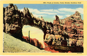Cedar Breaks Walls of Jericho Southern Utah Vintage Postcard (unused) - Vintage Postcard Boutique