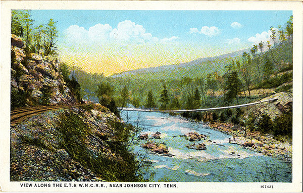 Johnson City Tennessee E.T. and W.N.C. Railroad Vintage Postcard (unused) - Vintage Postcard Boutique
