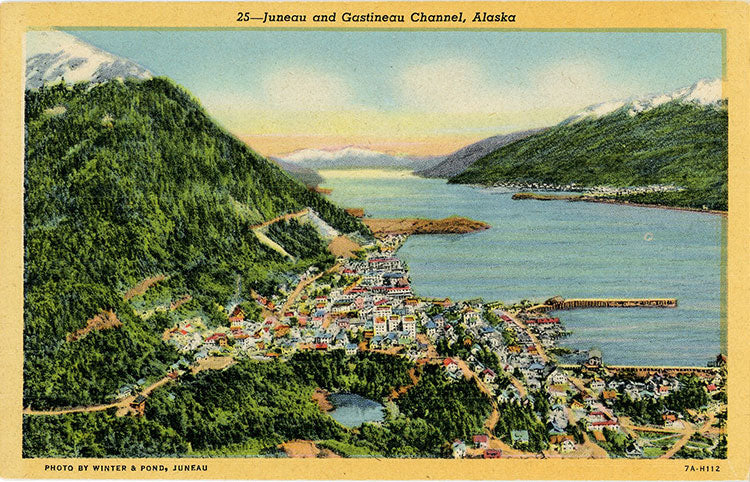 Juneau and Gastineau Channel Alaska Vintage Postcard (unused) - Vintage Postcard Boutique