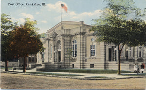 Kankakee Illinois Post Office Vintage Postcard - Vintage Postcard Boutique