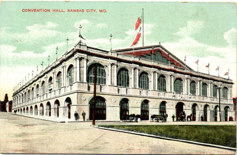 Kansas City Missouri Convention Hall Vintage Postcard 1909 - Vintage Postcard Boutique