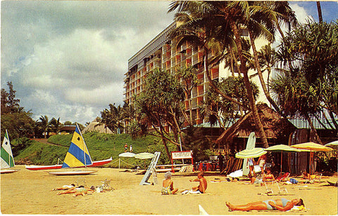 Kauai Surf Resort Kalapaki Beach Hawaii Vintage Postcard (unused) - Vintage Postcard Boutique