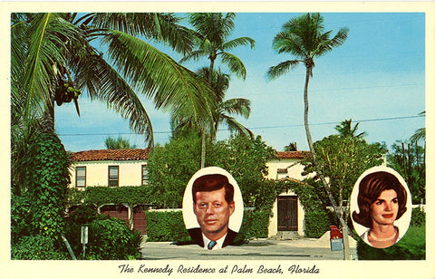 John F. Kennedy Palm Beach Florida Residence Vintage Postcard (unused) - Vintage Postcard Boutique