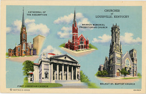 Louisville Kentucky Churches Vintage Postcard (unused) - Vintage Postcard Boutique