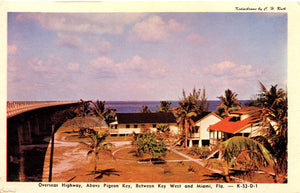 Florida Keys Overseas Highway Above Pigeon Key Vintage Postcard (unused) - Vintage Postcard Boutique