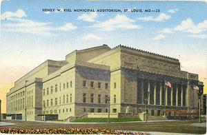 St. Louis Missouri Kiel Auditorium Downtown Vintage Postcard (unused)