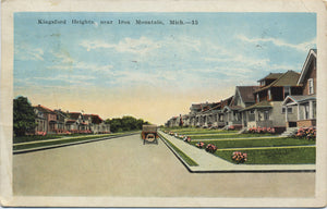 Iron Mountain Michigan Kingsford Heights Vintage Postcard 1925 - Vintage Postcard Boutique