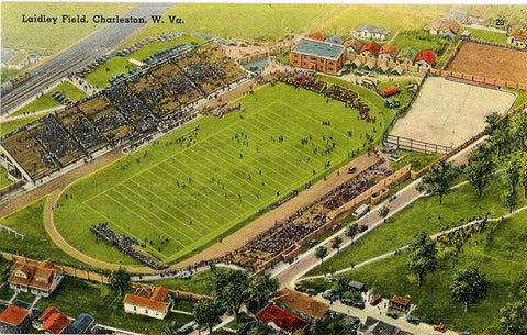 University of Charleston Stadium at Laidley Field West Virginia Vintage Postcard (unused) - Vintage Postcard Boutique