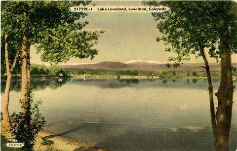Lake Loveland 'Sweetheart Town' Colorado Vintage Postcard (unused) - Vintage Postcard Boutique