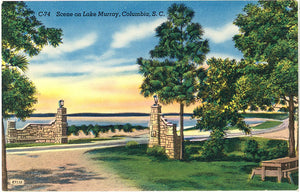Columbia South Carolina Lake Murray Reservoir Vintage Postcard (unused) - Vintage Postcard Boutique