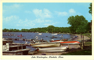 Mankato Minnesota Lake Washington Vintage Postcard (unused) - Vintage Postcard Boutique