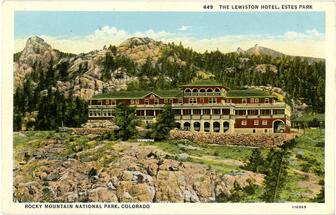 Estes Park Lewiston Hotel Rocky Mountain National Park Vintage Colorado Postcard (unused)