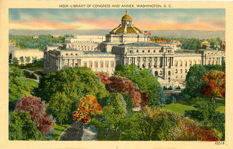 Washington D.C. Library of Congress & Annex Vintage Postcard (unused) - Vintage Postcard Boutique