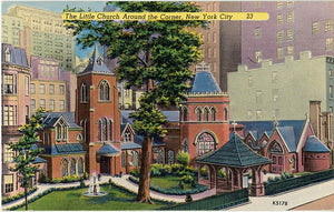 New York City Little Church Around the Corner NYC Vintage Postcard  (unused) - Vintage Postcard Boutique