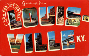 Louisville Kentucky Large Letter Vintage Postcard (unused) - Vintage Postcard Boutique