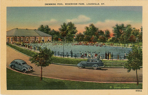 Louisville Kentucky Reservoir Park Swimming Pool Vintage Postcard (unused) - Vintage Postcard Boutique