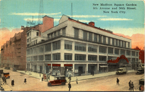 New York City New Madison Square Garden NYC Postcard 1930 - Vintage Postcard Boutique