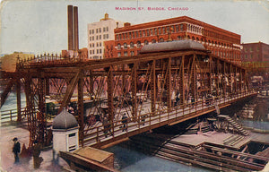 Chicago Illinois Madison Street Bridge Vintage Postcard 1912 - Vintage Postcard Boutique