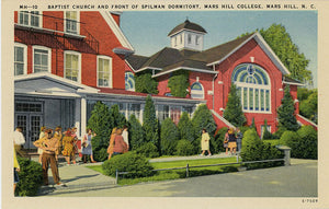 Mars Hill College Spilman Dormitory & Baptist Church North Carolina Vintage Postcard (unused) - Vintage Postcard Boutique