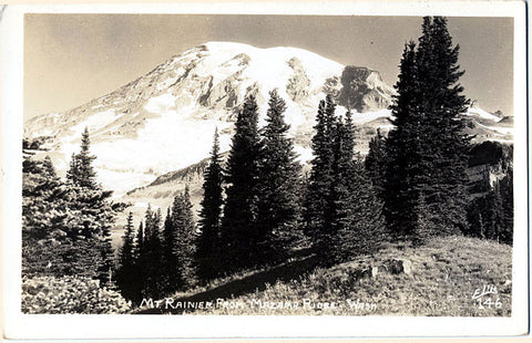 Mt. Rainier Washington from Mazama Ridge RPPC Vintage Postcard (unused) - Vintage Postcard Boutique