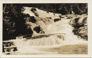 Glacier National Park Montana McDonald Creek Falls RPPC Vintage Postcard 1930s (unused) - Vintage Postcard Boutique