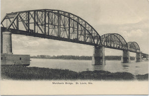 St. Louis Missouri Merchants Bridge Vintage Postcard (unused) - Vintage Postcard Boutique