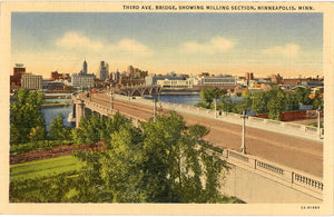 Minneapolis Minnesota Third Avenue Bridge Milling Section Vintage Postcard - Vintage Postcard Boutique