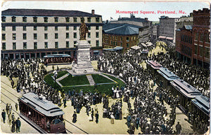 Portland Maine Monument Square Postcard
