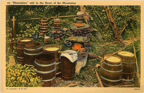 Moonshine in Heart of Tennessee Mountains Vintage Postcard (unused) - Vintage Postcard Boutique