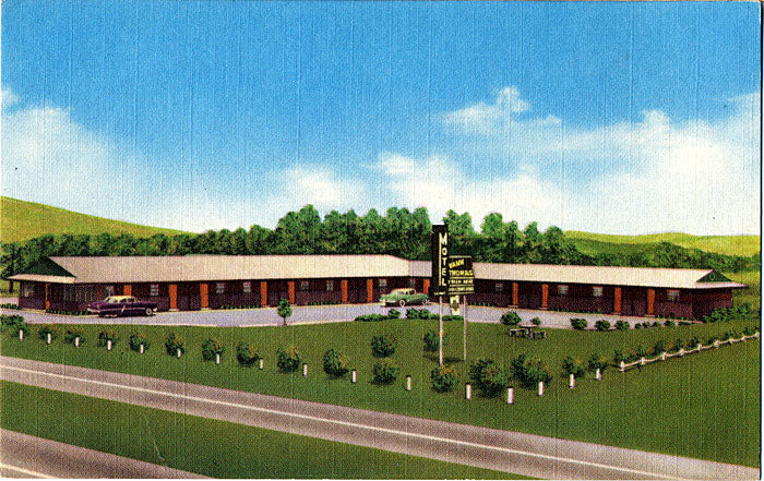 Anniston Alabama Motel Vann Thomas Vintage Postcard - Vintage Postcard Boutique