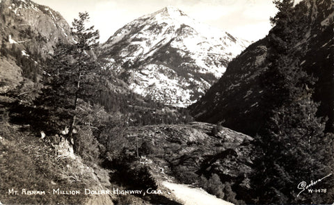 Mt. Abram Million Dollar Highway Rocky Mountains Colorado RPPC Vintage Postcard (unused) - Vintage Postcard Boutique