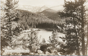 Mt. Evans Echo Lake Rocky Mountains Colorado RPPC Vintage Postcard 1949 - Vintage Postcard Boutique