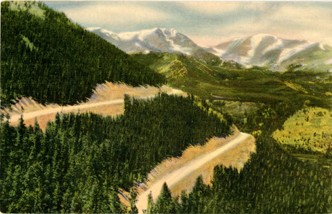 Mt. Ypsilon & Mummy Range from Trail Ridge Road Estes Park Grand Lake Colorado Vintage Postcard (unused)