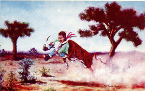 Necking the Baby – Western L. H. Dude Larsen Vintage Postcard 1941 (unused) - Vintage Postcard Boutique