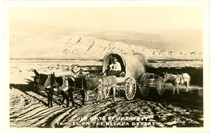 Covered Wagon & Cowboys on Nevada Desert RPPC Vintage Postcard (unused) - Vintage Postcard Boutique