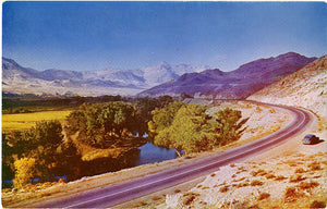 Nevada Cross Country Highways Vintage Postcard 1950s (unused)