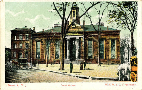 Newark New Jersey Court House Vintage Postcard circa 1900 - Vintage Postcard Boutique