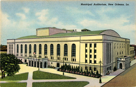 New Orleans Louisiana Municipal Auditorium Vintage Postcard (unused)