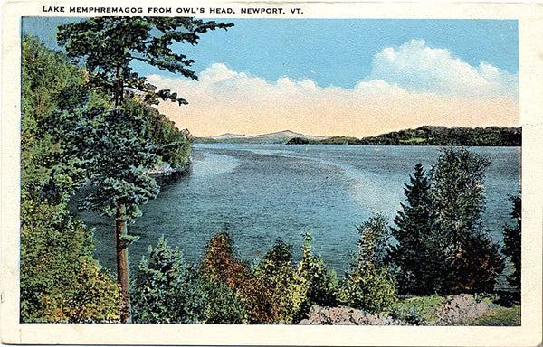 Newport Vermont Lake Memphremagog Owl's Head Vintage Postcard (unused) - Vintage Postcard Boutique