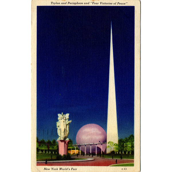 New York World's Fair Trylon & Perisphere New York City Vintage Postcard 1940 - Vintage Postcard Boutique