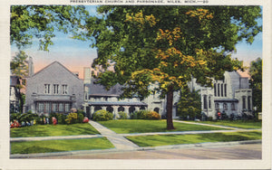 Niles Michigan Presbyterian Church Vintage Postcard 1939 - Vintage Postcard Boutique