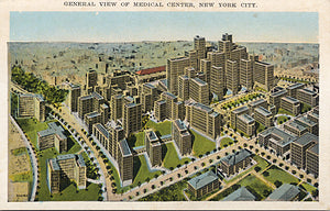 New York City Medical Center Aerial Overview NYC Vintage Postcard (unused) - Vintage Postcard Boutique