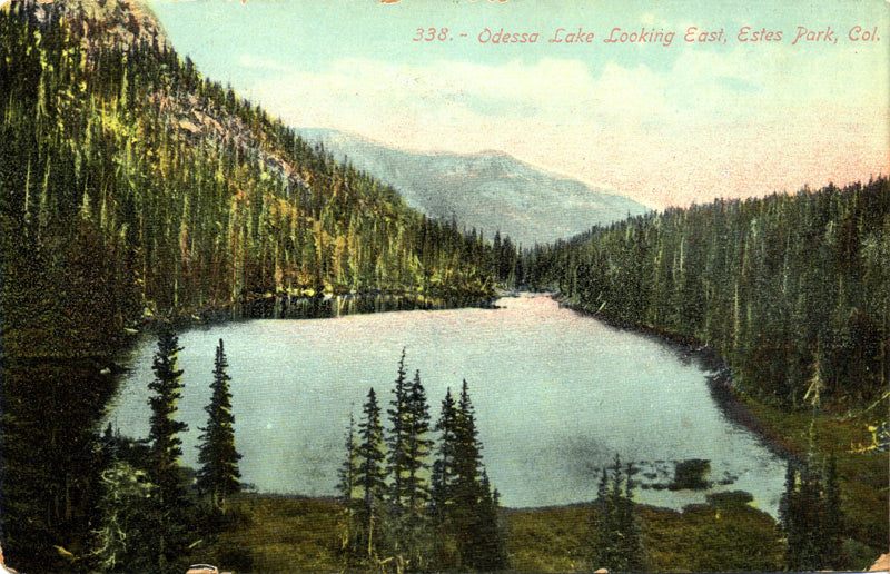 Estes Park Colorado Odessa Lake Looking East Vintage Postcard  (unused) - Vintage Postcard Boutique