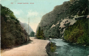 Ogden Canyon Utah Wasatch Range Vintage Postcard circa 1910 (unused) - Vintage Postcard Boutique