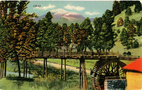 Ruidoso New Mexico Old Mill White Mountains Old Baldy Vintage Postcard (unused) - Vintage Postcard Boutique