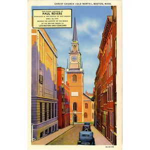 Boston Massachusetts Old North Christ Church Vintage Postcard (unused) - Vintage Postcard Boutique
