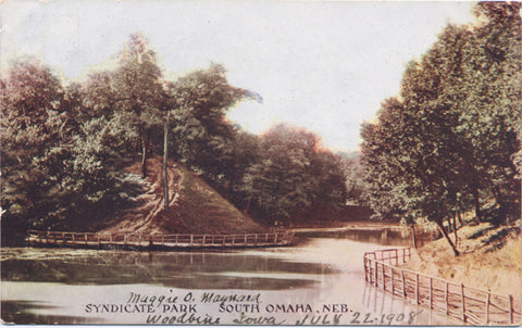 South Omaha Nebraska Syndicate Park Vintage Postcard 1908 - Vintage Postcard Boutique
