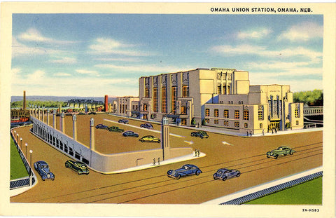 Omaha Union Station Nebraska Vintage Postcard (unused)