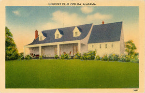 Opelika Alabama Country Club Vintage Postcard (unused)